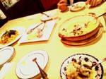 お腹があまり空いてなくてパスタとリゾットのみ・・ 誕生日のディナーにしてはちと淋しい(笑)