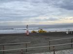 前日と次の日には若者であふれかえる海岸
